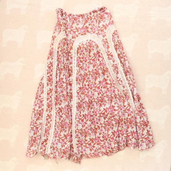 b479b82dde Free People Skirts | Boho Pink Garden Floral Maxi Skirt | Poshmark